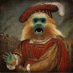 "officialtwgfan:  Illustrator Bill Mayer: ""Monkey Boy"" Gouache,… http://ift.tt/1EI7mLT"