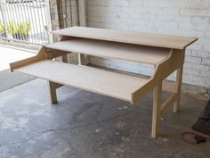 Red oak music desk