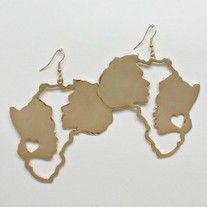 www.shopajb.com $9 Africa gold latch hook ear candy · Ashas Jewelrybox's Store
