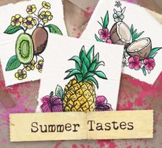 This juicy collection of painterly tropical treats is ready to adorn kitchen towels, placemats, and more!