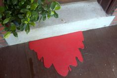 Bloody Mess Welcome Mat Halloween Decoration