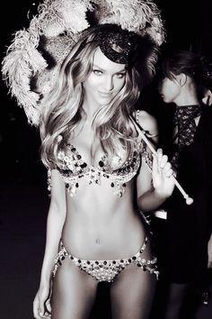 Sexy Candice in a Sparkly Victoria's Secret Fashion Show Costume