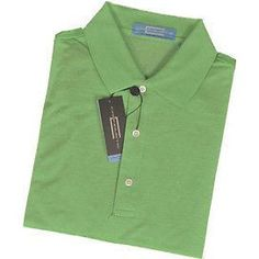 Carnoustie Carpa1056 Pattern Polo S/S Mens Shirts Light Green Size M