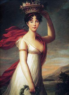 Julie as Flora, Roman Goddess of Flowers (1799) – by Louise Élisabeth Vigée Le Brun (1755-1842) – c.1799.