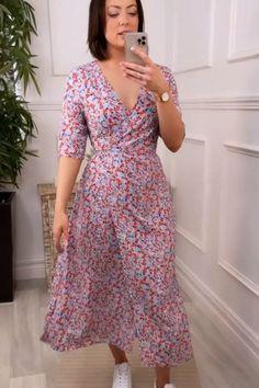 Blue dress, blue wrap dress, orange dress, orange wrap dress, maxi dress, summer dress, love virgo