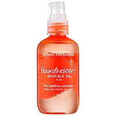 Bumble and bumble's Hairdresser's Invisible Oil transforms my bleached, dried-out ends into silky softness. #Sephora