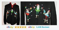 Stinkin' Cute ! Black 1/4 zip THREE SANTAs sweater SMALL C992 January BLOWOUT   #christopherbank #SantaSweater Pullover, Christmas Sweaters, January, Zip, Sweatshirts, Cute, Black, Fashion, Moda