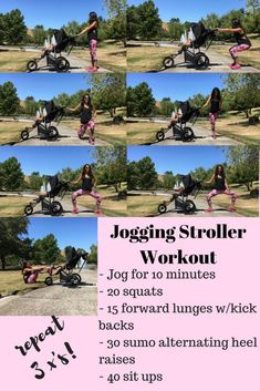 Staying Active: Jogging Stroller Workout (ad) sponsored by Joovy - Treehouse Threads Easy lower body workout moms and dads can do with kids along(Fitness Tips For Kids) Post Baby Workout, Post Pregnancy Workout, Mommy Workout, Pregnancy Advice, Stroller Workout, Jogging Stroller, Running With Stroller, Easy Workouts, At Home Workouts