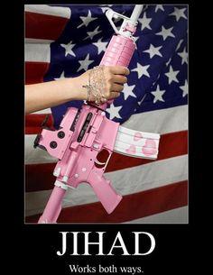 Girls, Guns & Our Flag...Works for me!!!