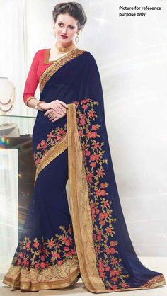 Embroidered Georgette Saree #KAL 191