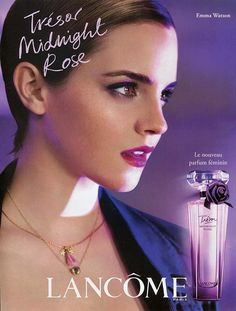 Parfum Trésor Midnight Rose par Lancome 2011 - Mannequin Emma Watson