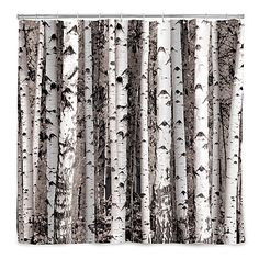BIRCH FOREST SHOWER CURTAIN That I would use in my bedroom, to make up for the crappy view.