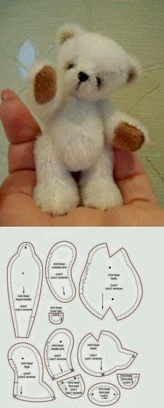 Amazing Home Sewing Crafts Ideas. Incredible Home Sewing Crafts Ideas. Baby Patterns, Doll Patterns, Sewing Patterns, Sewing Stuffed Animals, Stuffed Animal Patterns, Sewing Crafts, Sewing Projects, Teddy Bear Sewing Pattern, Teddy Bear Patterns