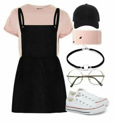 A fashion look from August 2017 featuring Topshop t-shirts, Converse sneakers and rag & bone hats. Browse and shop related looks. Outfits Designer Clothes, Shoes & Bags for Women Teenage Outfits, Cute Outfits For School, Teen Fashion Outfits, Cute Casual Outfits, Mode Outfits, Stylish Outfits, Casual Shoes, Fashion Fashion, Fashion Shops