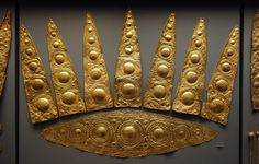 Gold diadem from Grave Circle A at Mycenae, Greece. These artefacts date to c. 1600-1100 B.C.E.