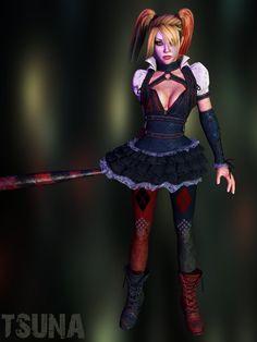 Harley Quinn by Saskeni on DeviantArt Batman Arkham Knight, Deadshot, Riddler, Two Faces, Catwoman, Harley Quinn, Disney Characters, Fictional Characters, Joker