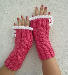 KNITTING PATTERN Mittens Grace and Lace Knit by LiliaCraftParty