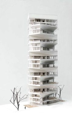 Writhing Tower designed by LYCS Architecture, is a proposal for a global architectural competition initiated by ARQUIA, an international development firm inter Tower Design, Arch Model, High Rise Building, Famous Architects, Modern Architecture, Chinese Architecture, Commercial Architecture, Skyscraper, Architectural Models