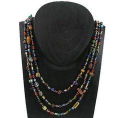 Multicolor 'Success' Triple Strand Beaded Necklace - Zakali Creations