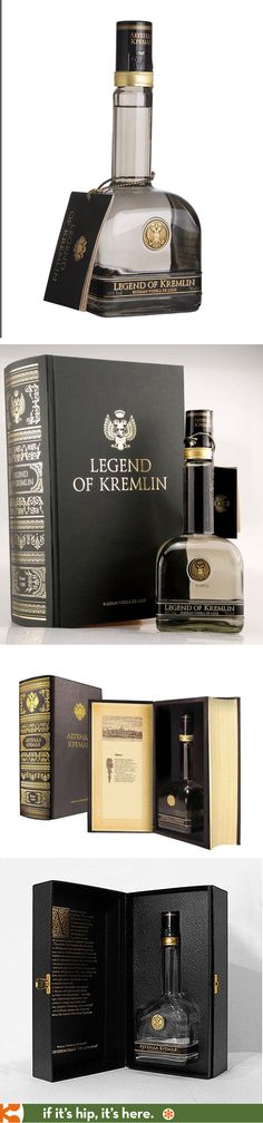 Legend Of Kremlin premium Vodka's special Book Packaging for the US and Russia.