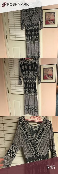 Free People dress Black grey and white She's s Lady Free People dress. Gently worn. Free People Dresses