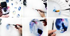 DIY - Make your own wall art with watercolor and a pen.