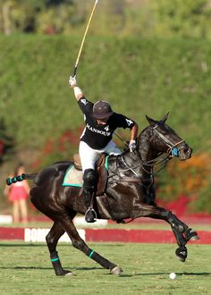 Is that Clint participating in the polo match?