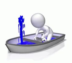 Stick Figure In Boat Bailing Water - Animated Clipart for PowerPoint Animated Smiley Faces, Emoji Photo, Animated Clipart, Powerpoint Animation, Ad Of The World, Sculpture Lessons, 3d Man, Emoji Images, Funny Spanish Memes