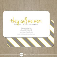 There's a simpler way to trading contact info. with other moms, and it's all in the name of calling cards.