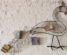 ~ from Home Decorators Collection metal peacock wall art  wall art, wire bird peacock I like this idea because is simple and easy and it also  showing the concept and purpose of this idea.