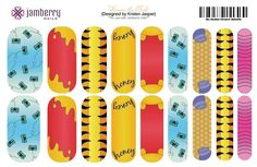 Winnie the Pooh inspired nails created in the jamberry nail art studio berryawesomeash.jamberry.net