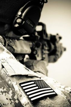 The only thing more true than my aim,  Is my love for my flag.