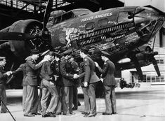 303rd Bombardment Group 358th Bombardment Squadron Crew with B-17 Hells Angels 41-24577