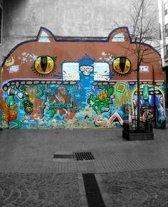 Graffiti cat, San Telmo, Buenos Aires