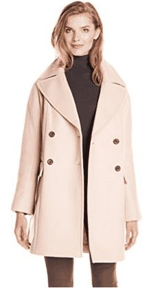 Vince Camuto Women's Double Breasted Wool Coat Smoky Blush X-Small Casual Coats For Women, Winter Coats Women, Pink Wool Coat, Wool Coats, Women's Coats, Double Breasted, Vince Camuto, Menswear, Clothes