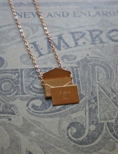 Little Love Note Love Necklace