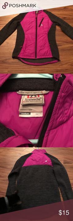 Avalanche Pink Zip Up Jacket Avalanche pink and gray zip up jacket. Size medium. Has insulation layer. In good condition – no flaws. Avalanche  Jackets & Coats