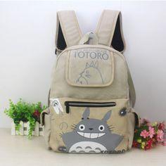 Totoro Backpack Japan anime Shoulder school bag canvas bag new