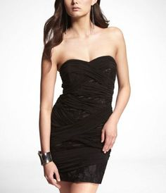 #Weekend's not too far, #Strapless dress #Fashion