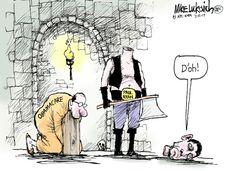 Paul Ryan suicidal executioner?  Cartoons