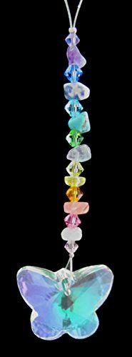 Mini Pastel Chakra - Semi-Precious Stones w/ 28 mm Aurora Borealis Butterfly - Crystal Suncatcher Figurine Oh My Gosh ! http://www.amazon.com/dp/B00TUCGGSO/ref=cm_sw_r_pi_dp_qkjsvb1P3R7C7