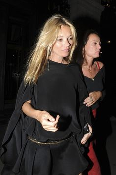 Kate Moss at Wolseley Restaurant