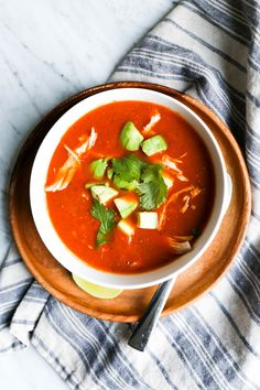 Creamy Tortilla-Less Soup. Whole30 approved, paleo approved.