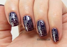 Purple Musical Nails mit I Carol About You (OPI, Gwen Stefani Holiday)