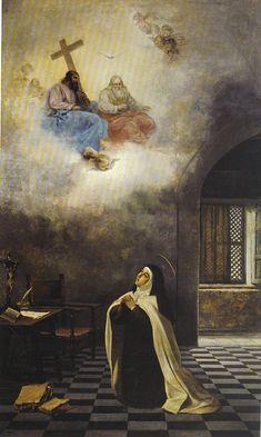 Manuel Wessel de Guimbarda - Visión de Santa Teresa
