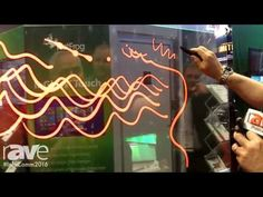 InfoComm 2016: FlatFrog Demos 55-Inch Interactive Transparent Display - YouTube