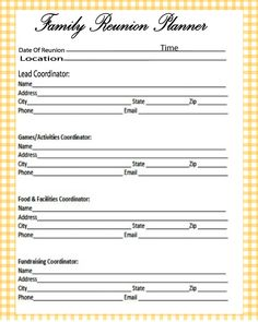 Free Family Reunion Printables AAAAA Plus Web Design  Free Printable Family Reunion Templates
