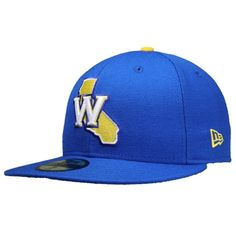 Golden State Warriors New Era 59FIFTY GCP Fitted Hat - Royal be4a0e0b30e