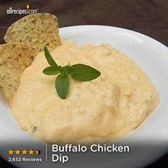Just five minutes to prep and 40 minutes in the slow cooker. Repin for an easy #Thanksgiving Day appetizer. (Buffalo Chicken Dip) http://allrecipes.com/video/852/buffalo-chicken-dip/detail.aspx?lnkid=717