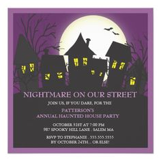 Most wacky invitation wording ideas and samples for your trick r nightmare neighborhood halloween party invitation stopboris Gallery